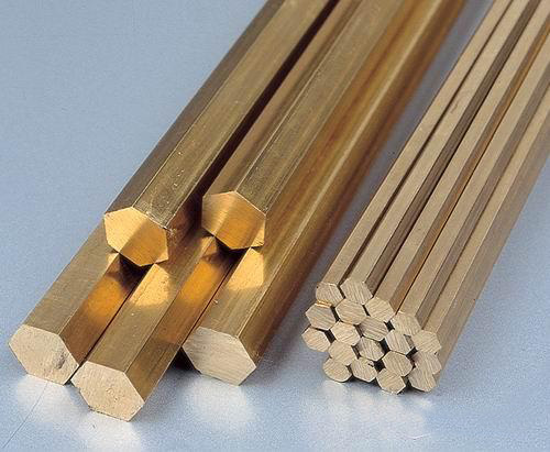 Hexagonal brass rod